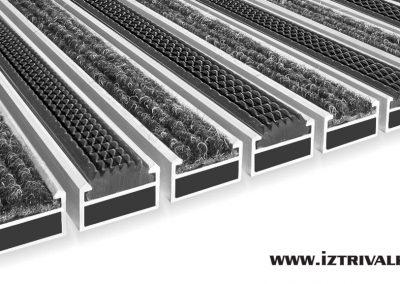Алуминиева изтривалка CL17-CL22mm-Гума+Мокет