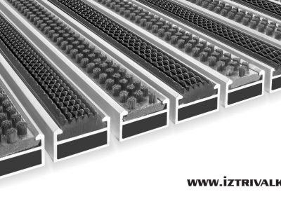 Алуминиева изтривалка CL17-CL22mm-Четка+Гума