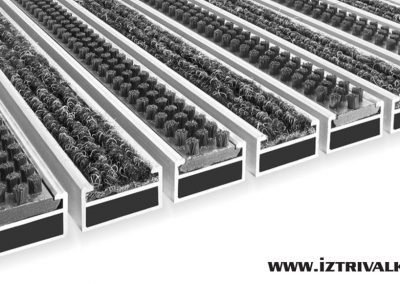 Алуминиева изтривалка CL17-CL22mm-Четка+Мокет